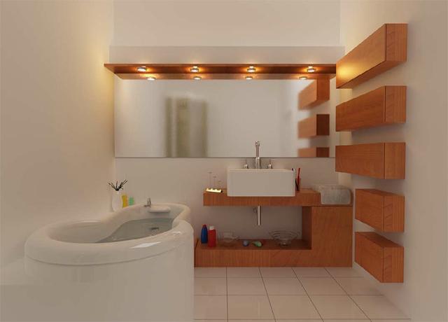 تاثیر آینه در دکور حمام